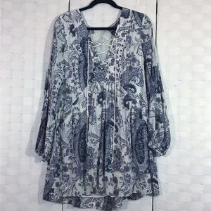 Free People Festival Boho Peasant Blouse in L